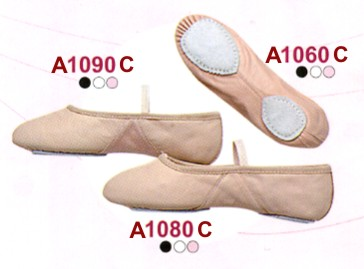 Split sole ballet slippers